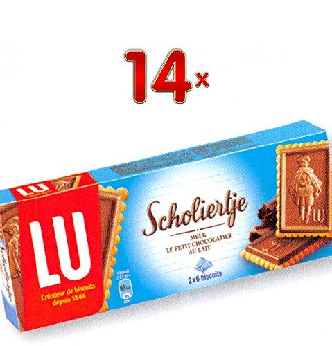 LU Scholiertje Le Petit Chocolatier Au Lait 14 x 150g Packung (Keks mit Vollmilch Schokolade)