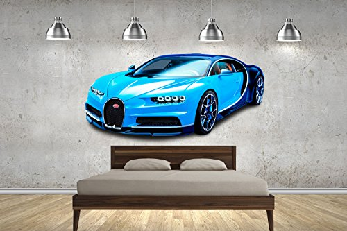 Bugatti Chiron Super Autos 100cm Wand tattoos Wandtattoos Dekorative Wandabziehbilder Customise4U™