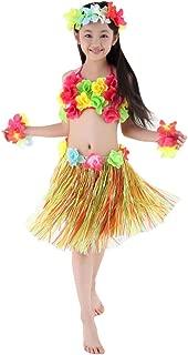 Fighting to Achieve Hawaiian Hula Dance Costume 5pcs for Girls