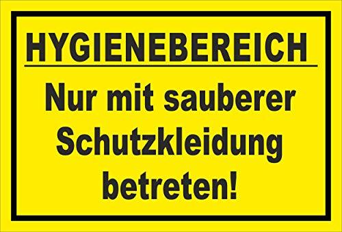 Melis Folienwerkstatt Schild Hygienebereich - 15x10cm - 3mm Hartschaum – 20 VAR S00225-010-C