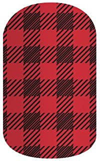 Jamberry Nails - Friday Flannel (Half Sheet) *Holiday Wraps*