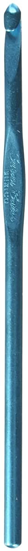 Susan Bates 5-1/2-Inch Silvalume Aluminum Crochet Hook, 5mm, Turquoise