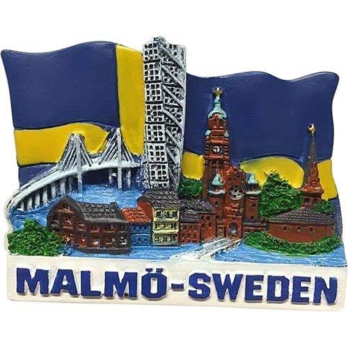 Malmö Schweden Sweden Poly Magnet Turning Torso Ores& Brücke Souvenir