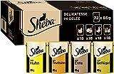 Sheba Delikatesse in Gelee – Hochwertiges Katzen Nassfutter mit feiner Geflügelauswahl – Im praktischen Portionsbeutel – 72 x 85g...
