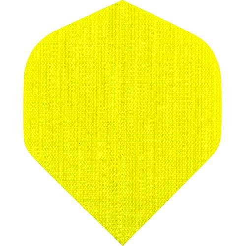 Designa Dart-Flights aus Nylonstoff, Standard Neon-Gelb,5Sets (15 Stück)