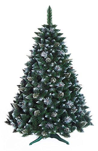 DWA ARBOL Navidad Grande en Caja, Bosque Tradicional Verde Soporte (180 cm, Snow Covered)