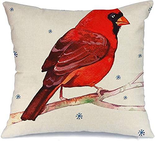 Throw Pillow Cover Funda de cojín, Acuarelas Hermosas Aves Set Waxwing en trepatroncos Obra de Arte Animales aislados Vida Silvestre Volando Naturaleza Funda de Almohada