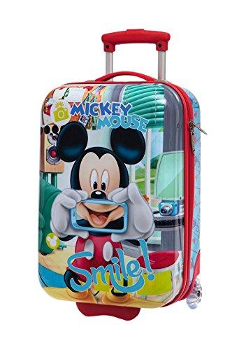 Disney Mickey Smile Bagaglio a Mano, ABS, Blu, 50 cm
