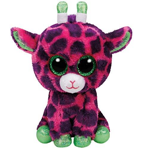 TY- Jirafa Peluche, juguete, Color rosa/verde, 15 cm (United Labels Ibérica 37220TY) , color/modelo surtido