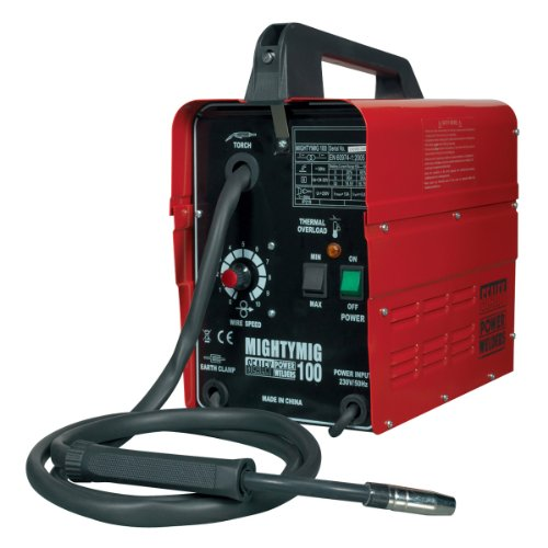 Sealey MIGHTYMIG100 Professional No-Gas Mig Welder, 100A, 230V, 3kw, Red
