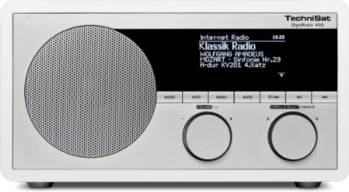 TechniSat DigitRadio 400 (DAB+/UKW & Internetradio, WLAN, UPnP, Bluetooth), weiß
