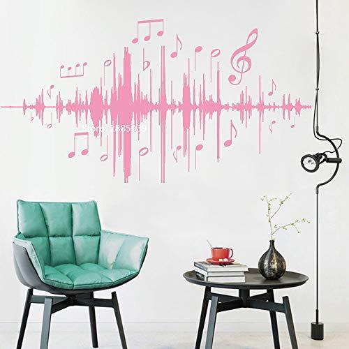 Ajcwhml Musik Audio Notizen Wandtattoos Musik Frequenz Wandaufkleber Vinyl Schlafzimmer Kinderzimmer Kinderzimmer Wohnzimmer Dekoration 79cm x 42cm