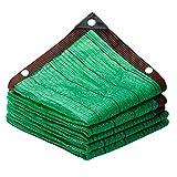 Bdb 95 % Tela Resistente A Los Rayos UV Tela Transpirable Vela Toldo Parasol Al Aire Libre con Ojales Toldo Vela de Sombra (Color : Verde, tamaño : 5 * 5m)