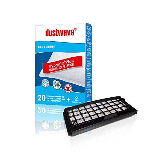 20 Staubbeutel + HEPA-Filter (828) geeignet für Siemens - VS Q4. Serie Bodenstaubsauger - dustwave® Markenstaubbeutel Made in Germany