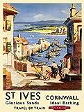 Blechschild Wanddekoration St. Ives Cornwall Reise-Thema