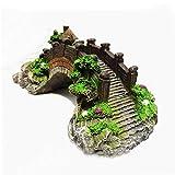 KHHGTYFYTFTY 1pc mágico Acuario decoración de la Resina de Colores Puente de árbol del jardín de rocalla para Fish Tank