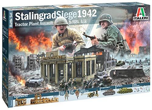 Italeri 6193S 1:72 Battle Set Stalingrad Siege, originalgetreue Nachbildung, Modellbau, Basteln, Hobby, Kleben, Plastikbausatz, Zusammenbauen