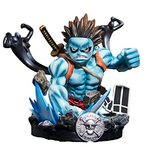 SHUMEISHOUT La nueva figura de acción de una pieza de 23 cm azul Luffy, estatua Pesadilla mono D Luffy Figrue Pvc modelo de juguete coleccionable