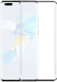 شاشة حماية من الزجاج المقوى لموبايل هواوي ميت 40 برو بحافة منحنية - اللون اسود