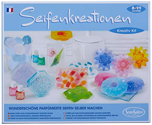 Sentosphere 3902370 Kreativ-Kit Seifenkreationen, Seifen selber Machen, Bastelset für Kinder, DIY