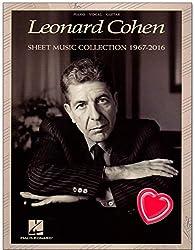 Leonard Cohen Sheet Music Collection (1967-2016) - Livre de partitions pour piano, chant, guitare avec pince à partitions colorée en forme de cœur
