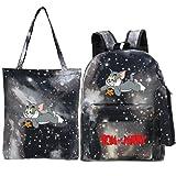Amacigana Mochila escolar Tom and Jerry C de 3 piezas, mochila para niños y niñas, gran capacidad, mochila escolar con dibujos animados, A11, small,