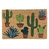 DCASA DCASA Antideslizante Cactus Referencia DC Felpudos Textiles del hogar Unisex Adulto, Multicolor (Multicolor), única