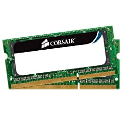 Ultra Stable Laptop Memory from Corsair - the Leader in Performance Memory Solutions Designed for current generation notebooks, mini-PCs and netbooks Microsoft® Windows® Vista and Windows® 7 operating systems 8GB (2 X 4GB) DDR3 Laptop Memory Kit - 13...