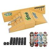 Rocket Skate Park Kit,Finger Skateboard Ramp Parts 3PCS Skate Park Kit with 4 Finger Skateboards Ultimate Parks Training Props(3PCS)