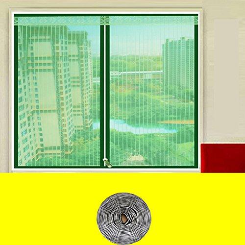Mosquito bildschirm silent,Magnetische bildschirm tür reißverschluss full-frame velcroscreen tür heavy-duty mesh sieb-I 90x120cm(35x47inch)