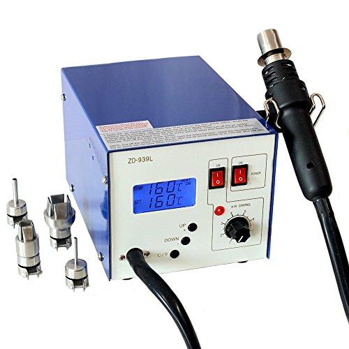 Regelbare digitale SMD Heißluft-Lötstation Rework ZD-939L LCD ESD