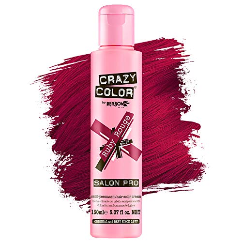 CO-01874 CRAZY COLOR SEMI-PERMANENT HAIR COLOR CREAM - 66 RUBY ROUGE