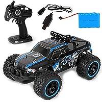1:14リモートコントロールオフロードクライミングカー2.4Ghz電気RCレーシングカーRCおもちゃ子供用ワイヤレス高速ドリフトトラックRCレーシングおもちゃ車モデル(色:青)
