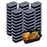 50 Pack Food Storage Containers, Disposable Plastic...