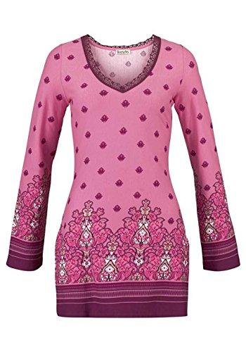 BOYSENS Damen-Tunika Tunika mit Spitze rosa-cyclam Mehrfarbig Größe 42