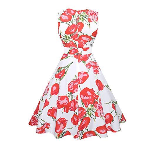 HNOSD Tuniek Vestidos Vrouwen Vintage Plissé Jurken Bloemen Print A-lijn Party Robe 2019 Zomerjurk