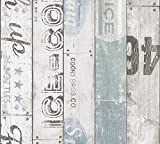 A.S. Création papel pintado de papel Boys & Girls 5 beige azul gris 10,05 m x 0,53 m 959503