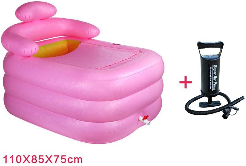 EUNADINAWENHUA Inable Badewanne Inable Badewanne, verdickte Erwachsenenbadewanne Kinderbadewanne Kunststoffwanne Tragbare Badewanne Luftbder für Wohnzimmer (Farbe   B)