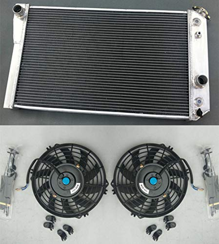 Aluminum radiator & fan for Chevrolet Chevy S10 (W  V8 Conversion) AT MT 1982-2002
