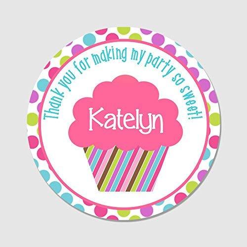 Sandy66Twain Aangepaste ronde Cupcake Party Favor Stickers - Bedankt voor het maken van mijn partij zo Sweet Favor Levels