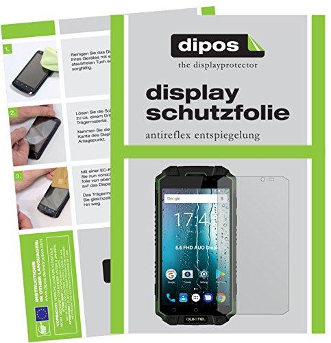 dipos I 6X Schutzfolie matt kompatibel mit Oukitel K10000 Max Folie Bildschirmschutzfolie