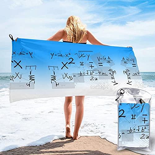 SWT-T Root Number Mathematics Class Toalla de baño, Toalla de Gimnasio Large Secado rápido, Toalla de Playa, Use for Sports, Travel, Fitness, Yoga, Microfiber