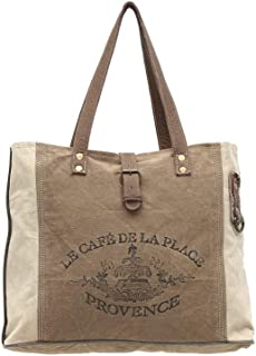 Myra Bags Provence Upcycled Canvas Tote Bag S-0939