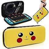 Funda para Nintendo Switch Lite, Slim Carry Case Protector Carcasa para Pokemon Switch Lite [Let's Go Pikachu/Eevee Pouch Design], Funda Portátil Delgada de Almacenamiento para Nintendo Switch Lite
