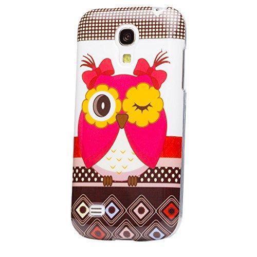 iCues   Samsung Galaxy S4 MINI   design del case TPU fiori Gufo Gufo Gufo ragazze   Signore delle ragazze delle donne di gel di silicone mod [Screen protector Compreso] Custodia Cover Case Tasca Borsa