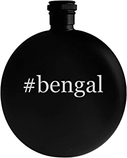 #bengal - 5oz Hashtag Round Alcohol Drinking Flask, Black