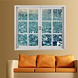 Aufkleber3D Three-Dimensional Window Wall Stickers High-End Waterproof Wallpaper Self-Adhesive Removable Living Room Bedroom Study Decoration Stickers