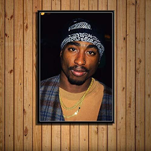 Hip-Hop Rap Music Legend Star Singer Rapper Tupac Shakur 2PAC Fotos HD Lienzo Pintura Arte de la pared Poster Boy Fans Dormitorio Studio Club Home Decor Mural
