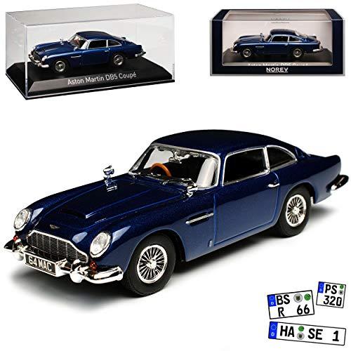 Aston Marton DB5 Coupe Nacht Blau 1963-1965 1/43 Norev Modell Auto