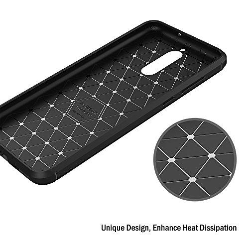 AICEK Huawei Mate 10 Lite Hülle, Schwarz Silikon Handyhülle für Huawei Mate 10 Lite Schutzhülle Karbon Optik Soft Case (5,9 Zoll) - 6